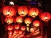 中華街のランタン天井