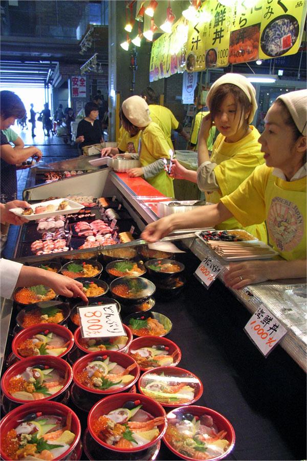 唐子市場の店