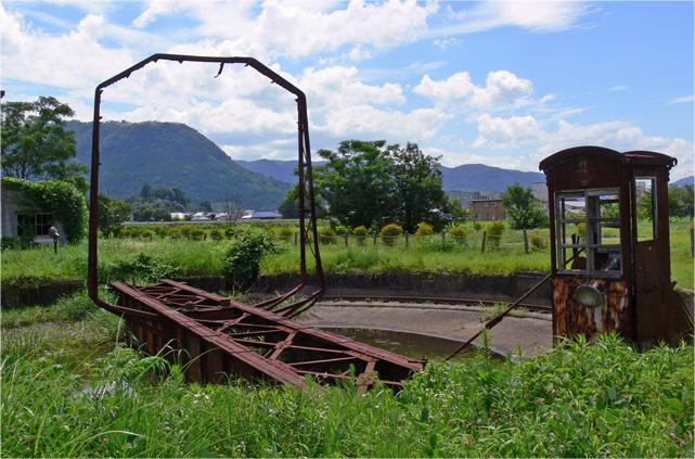 旧豊後森機関区のターンテーブル