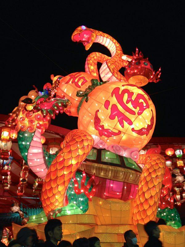2013ランタンフェスティバルメインオブジェ「玄武」